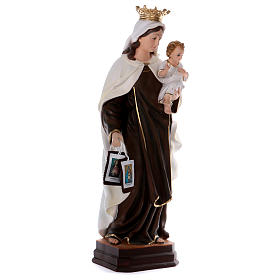 Our Lady of Mount Carmel statue in resin 70 cm s4