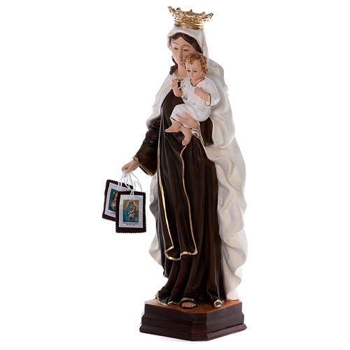 Our Lady of Mount Carmel statue in resin 70 cm 3