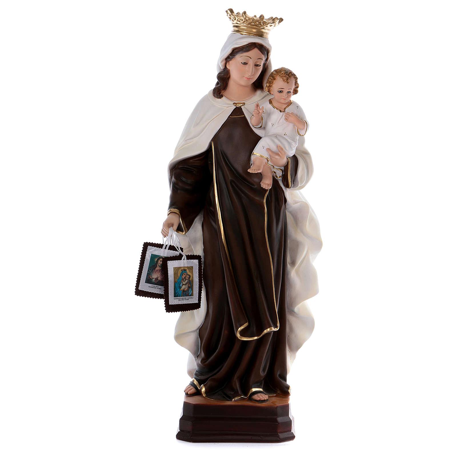 Estatua de resina Virgen del Carmen 70 cm 4