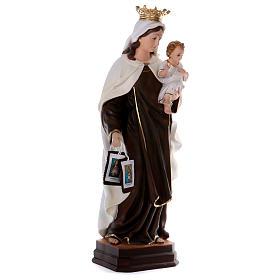 Estatua de resina Virgen del Carmen 70 cm s4