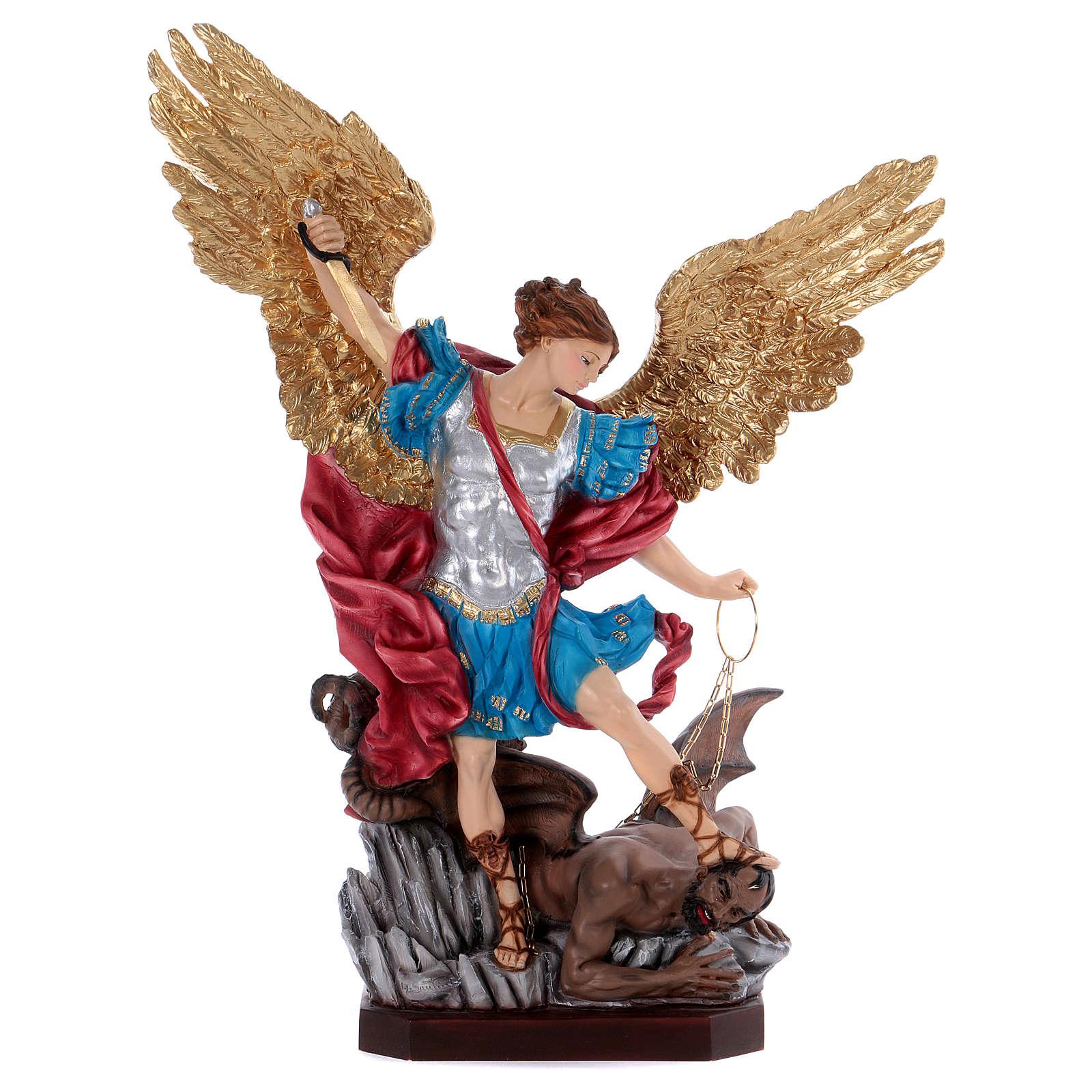 Saint Michael statue in resin 70 cm 4