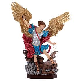 Saint Michael statue in resin 70 cm s1