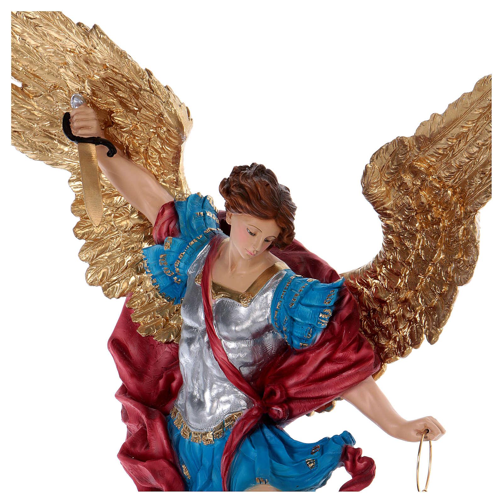 Święty Michał 70 cm żywica 4