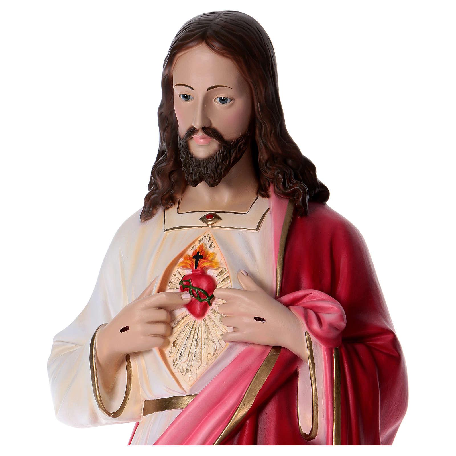 Estatua de resina Sagrado Corazón de Jesús 130 cm 4