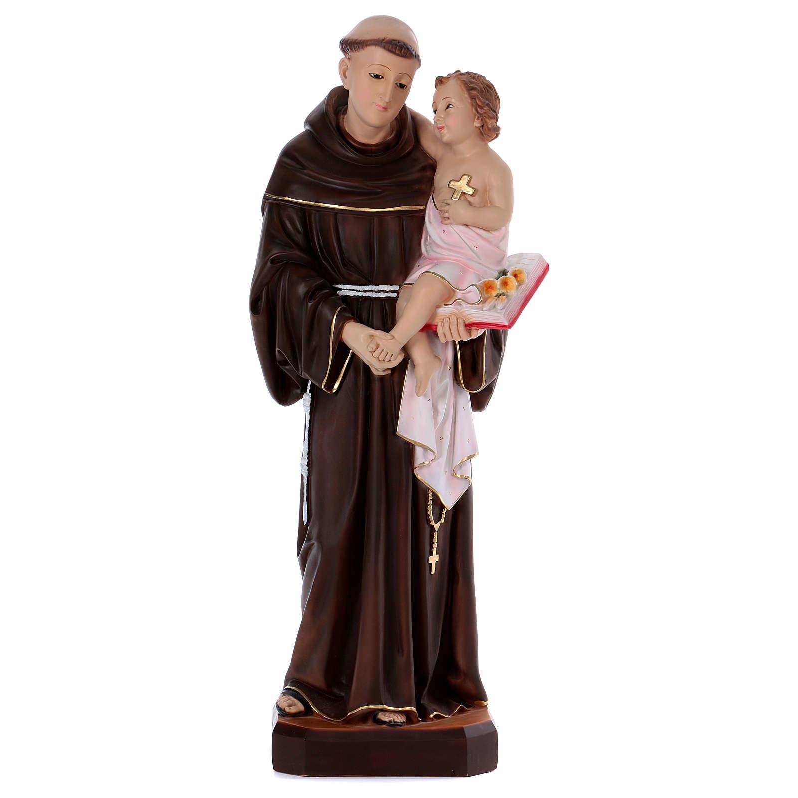 Statue Saint Antoine 80 cm en résine 4