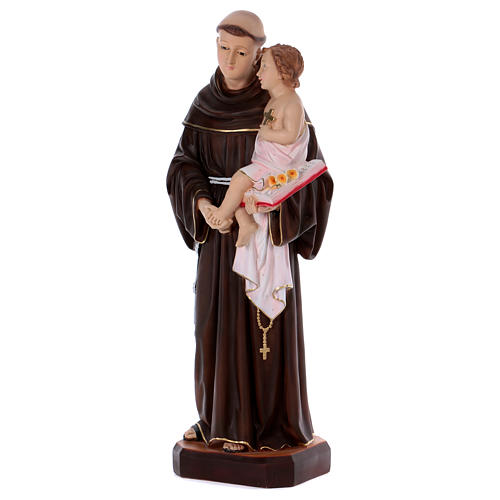 Statue of St. Anthony, 80 cm in resin 3