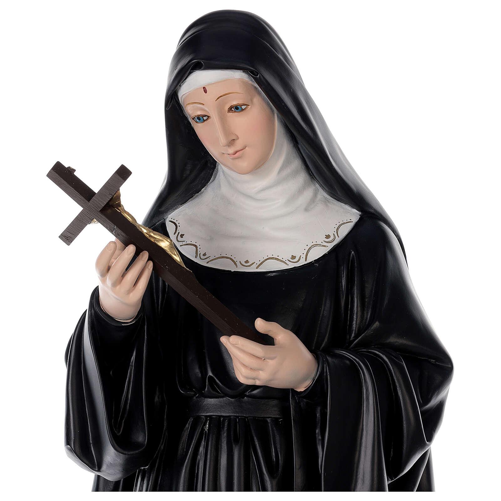 Santa Rita 80 cm estatua de resina 4