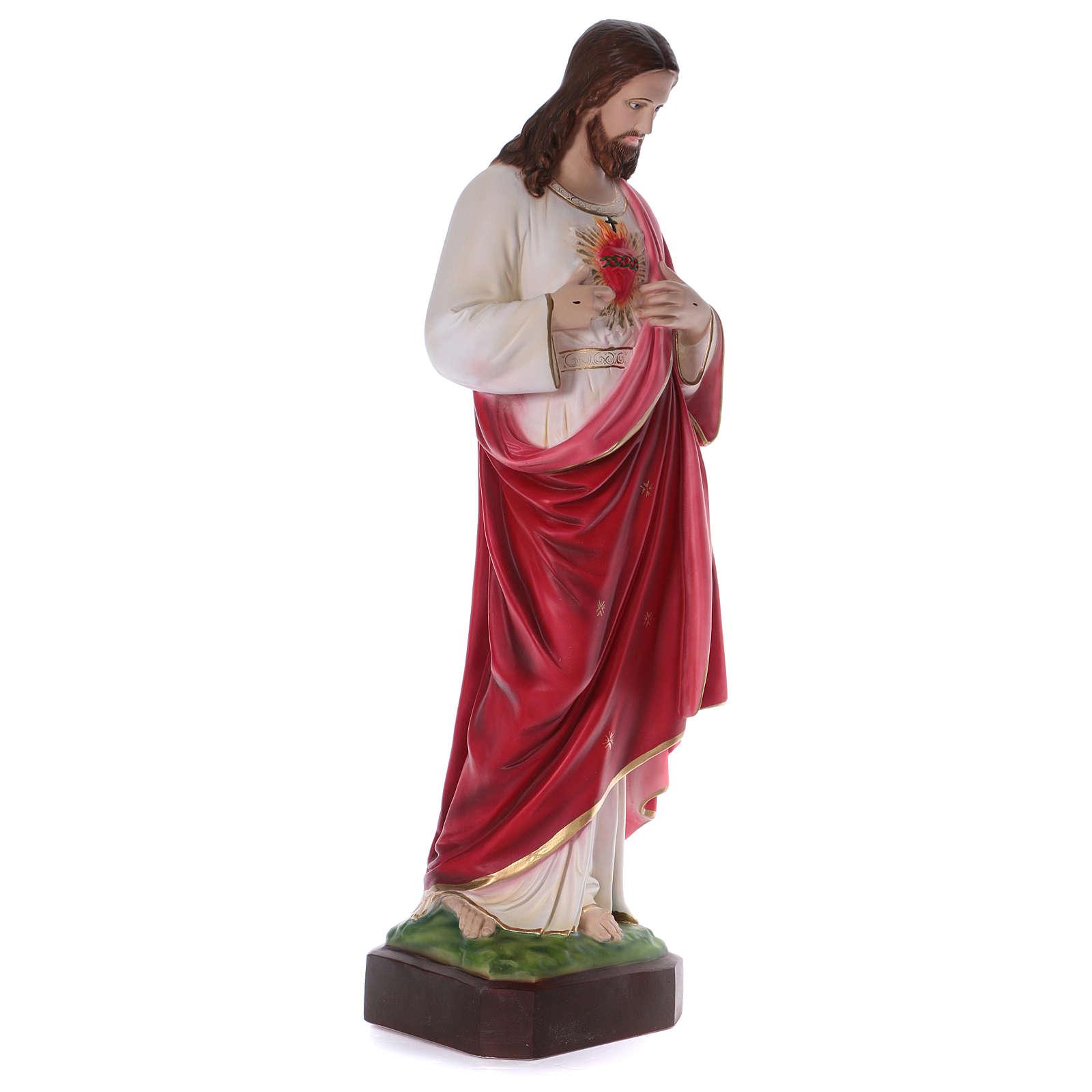 Sacred Heart of Jesus Resin Statue, 100 cm 4