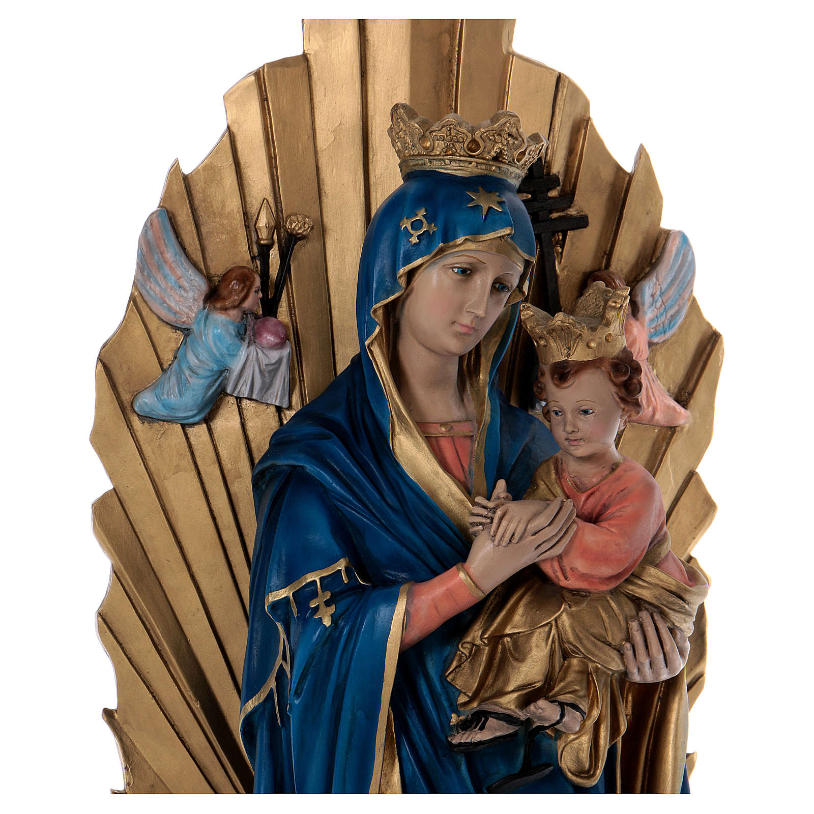 Imagem Nossa Senhora do Perpétuo Socorro Resina e Gesso 70 cm 4