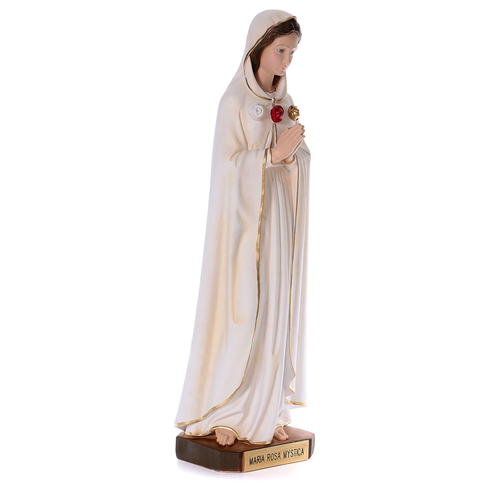Statua in resina Rosa Mistica 100 cm  4