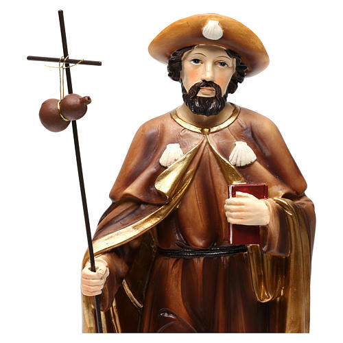 Estatua San Giacomo apóstol 30 cm resina coloreada 2
