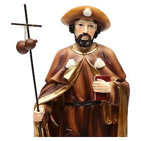 Statue Saint Jacques apôtre 30 cm résine colorée s2