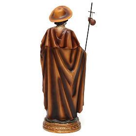 Statue Saint Jacques apôtre 30 cm résine colorée s5