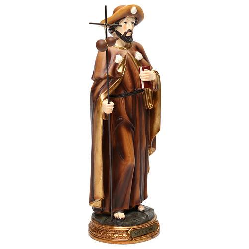 Statue Saint Jacques apôtre 30 cm résine colorée 4