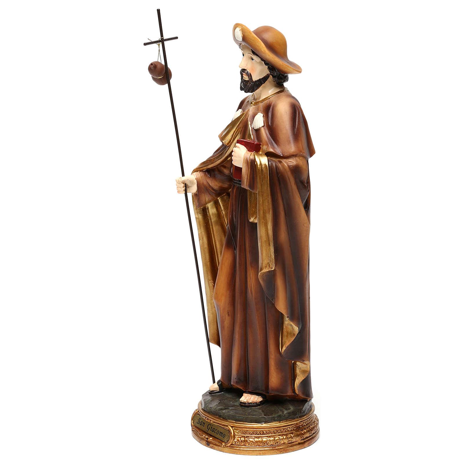 Statua San Giacomo apostolo 30 cm resina colorata 4