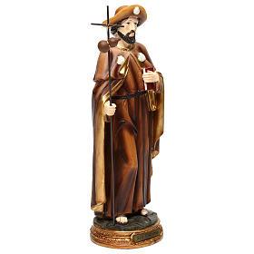 Statua San Giacomo apostolo 30 cm resina colorata s4