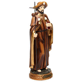 Saint James Apostle Statue, 30 cm in colored resin s4