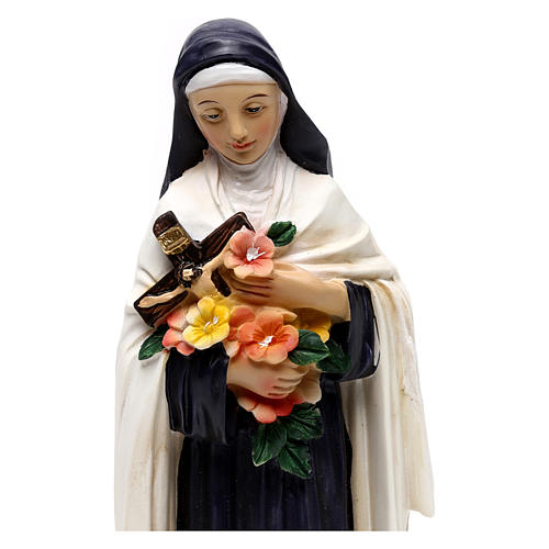 St. Teresa statue in painted resin 20 cm 2