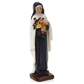 Saint Theresa 20 cm in colored resin s4