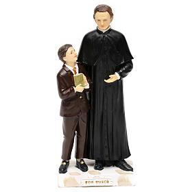 Statue en résine Don Bosco et Don Savio h 20 cm s1