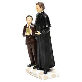 Statue en résine Don Bosco et Don Savio h 20 cm s3