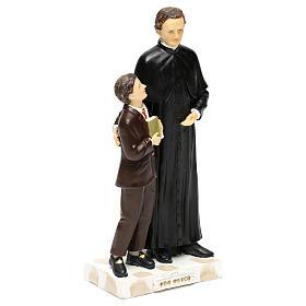Statue en résine Don Bosco et Don Savio h 20 cm s4