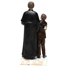 Statue en résine Don Bosco et Don Savio h 20 cm s5