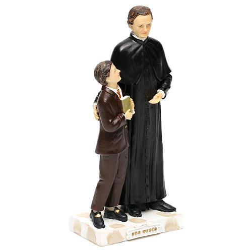 Statue en résine Don Bosco et Don Savio h 20 cm 4