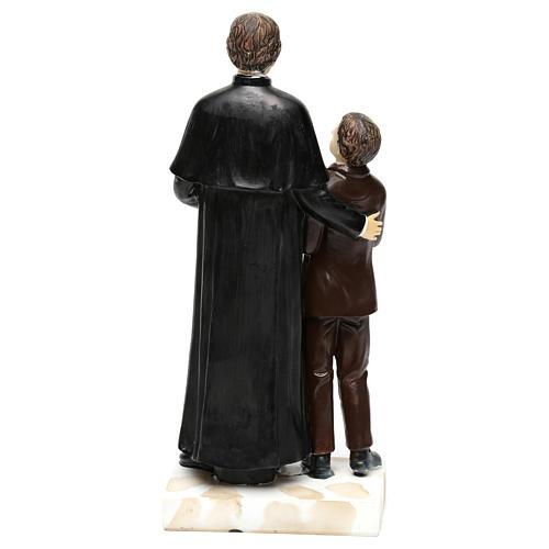 Statue en résine Don Bosco et Don Savio h 20 cm 5