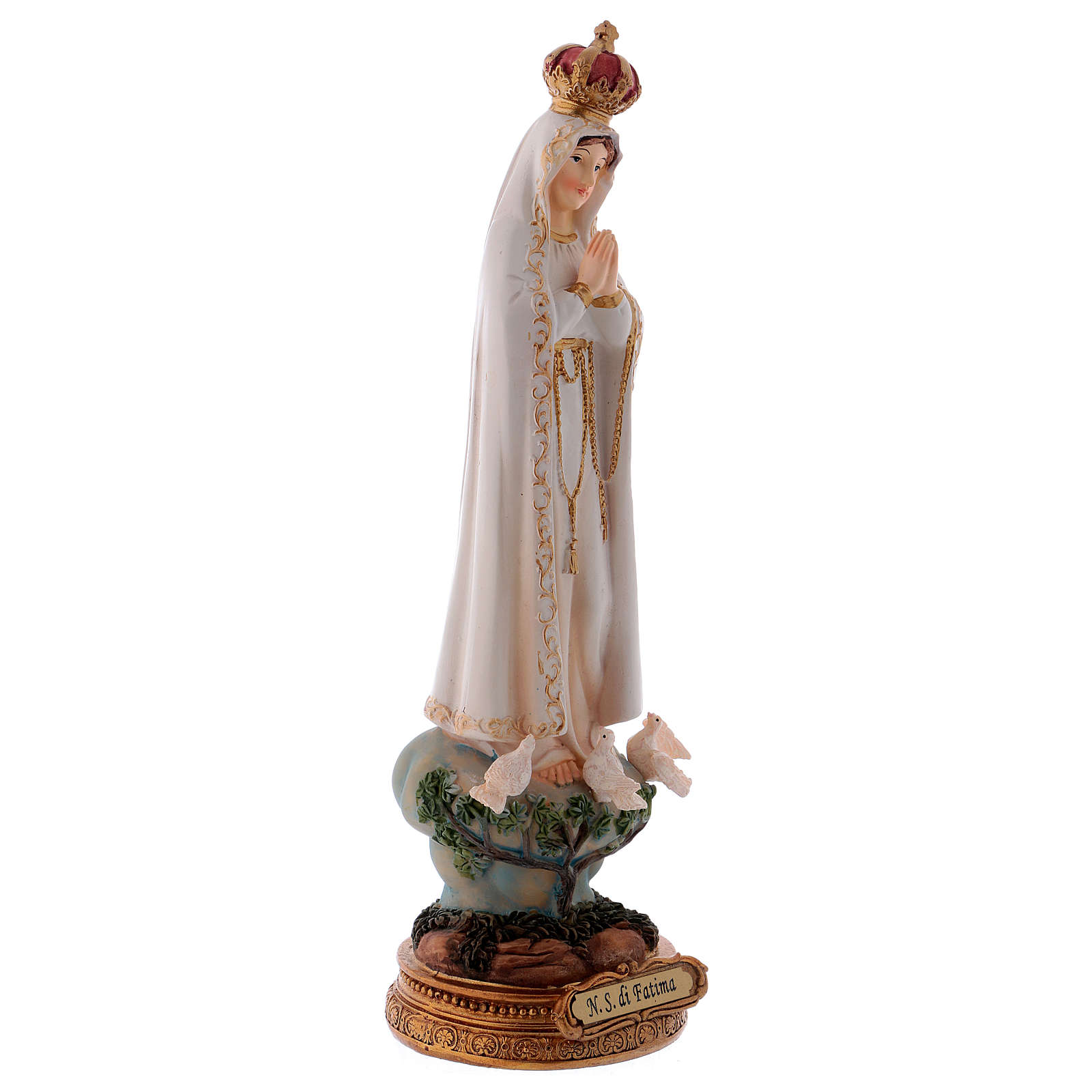 Our Lady of Fatima 24 cm Resin Statue 4