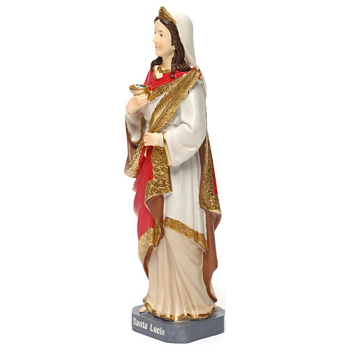 St. Lucy statue in resin 30 cm 3