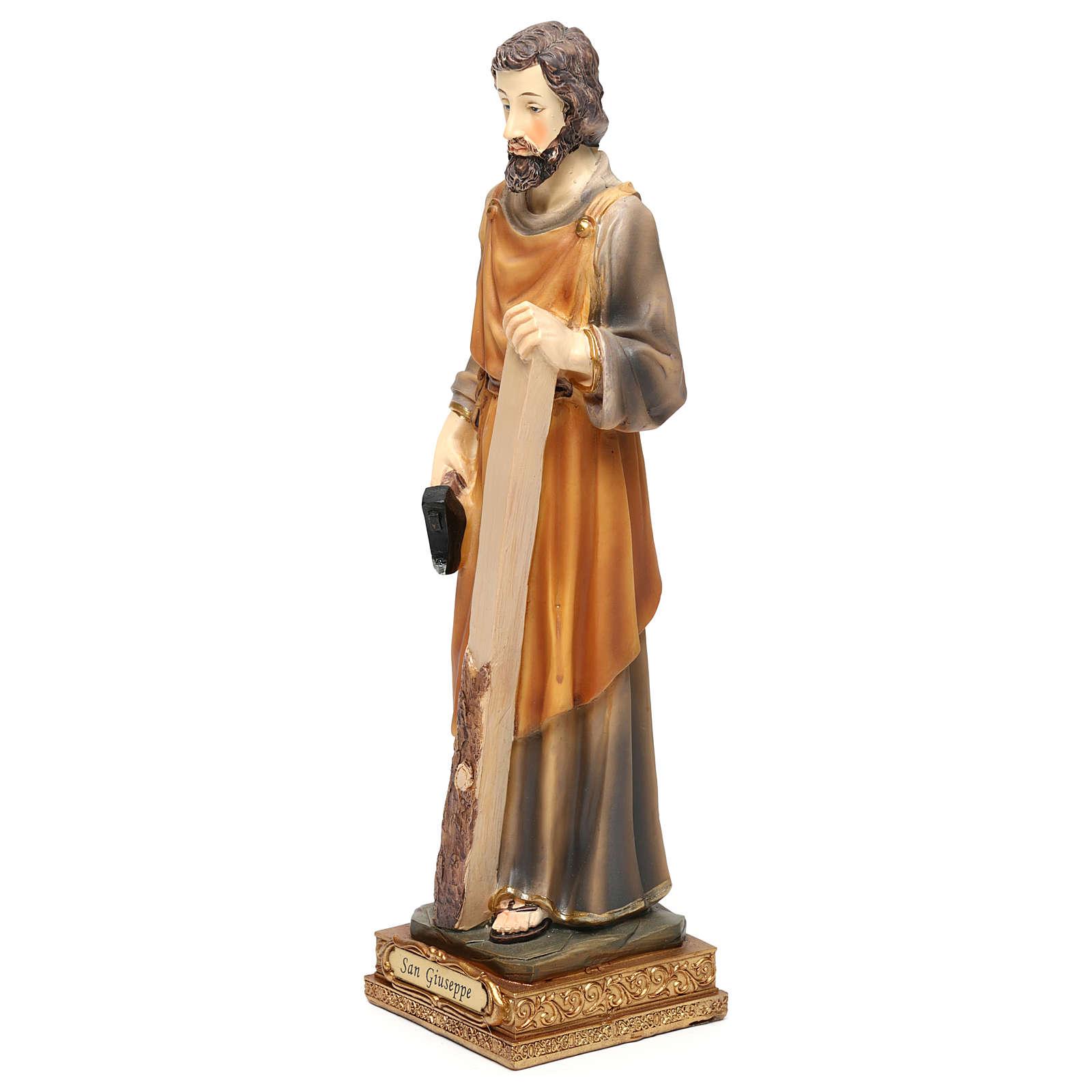 Saint Joseph menuisier 23 cm résine colorée 4