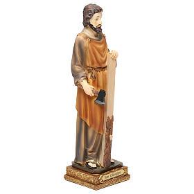 Saint Joseph menuisier 23 cm résine colorée s4