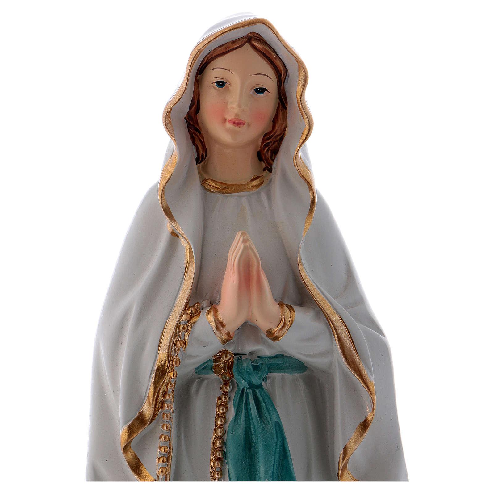 Madonna di Lourdes 22 cm statua in resina 4