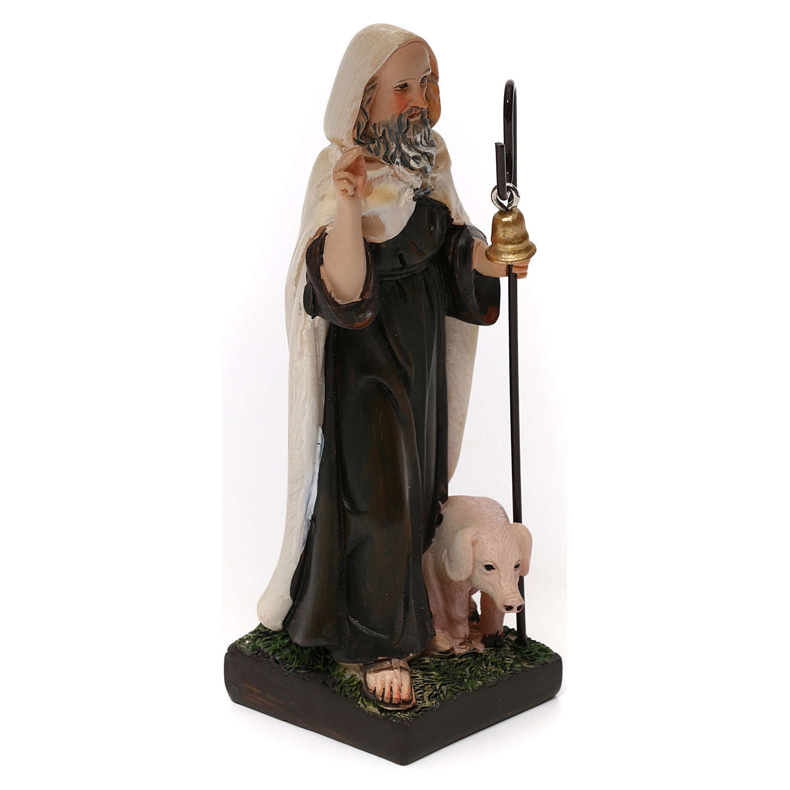 Święty Antoni Wielki opat 12 cm żywica malowana 4