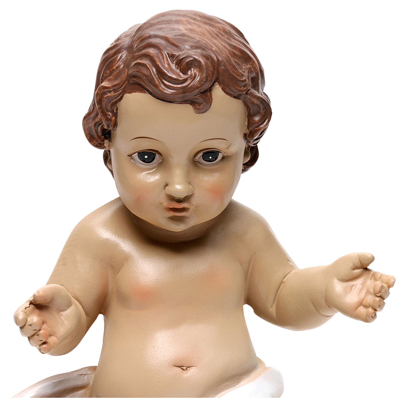 Baby Jesus statue in resin 26 cm 3