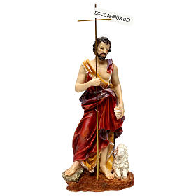 St. John the Baptist statue in painted resin 37 cm s1