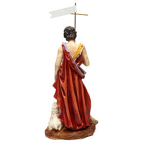 St. John the Baptist statue in painted resin 37 cm s5