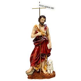 Saint Jean Baptiste 37 cm résine peinte s1