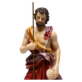 Saint John the Baptist 37 cm in painted resin s2