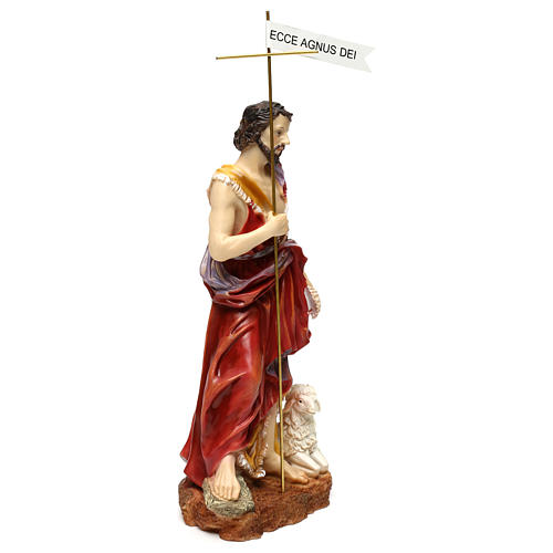 Saint John the Baptist 37 cm in painted resin 4