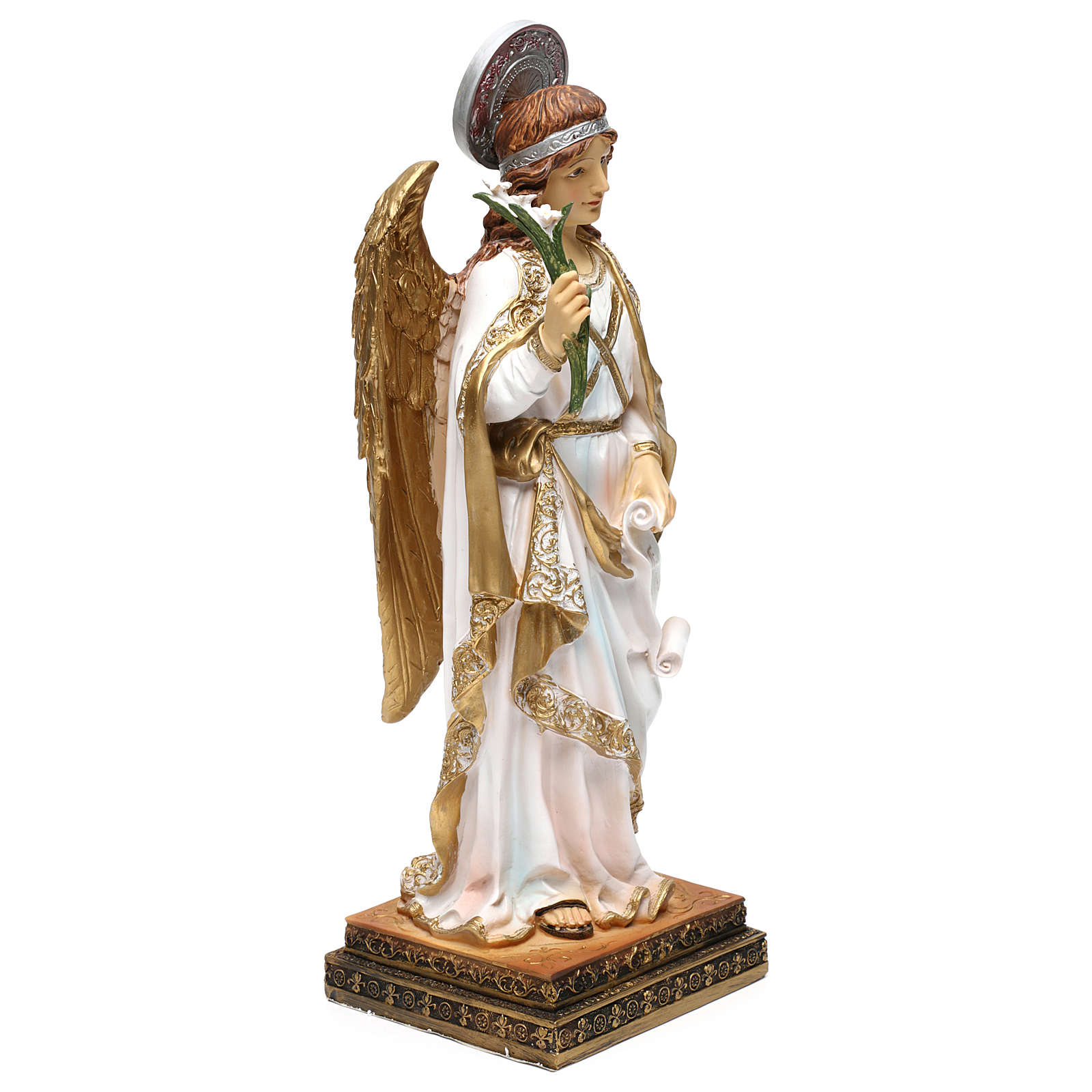 Arcángel Gabriel 40 cm resina pintada 4