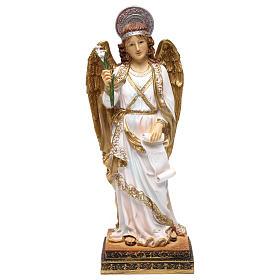 Statue in resina e PVC: Arcangelo Gabriele 40 cm resina dipinta