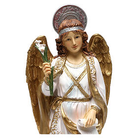 Arcangelo Gabriele 40 cm resina dipinta s2