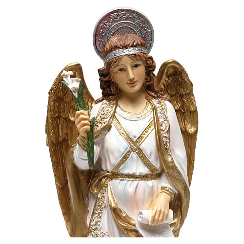 Arcangelo Gabriele 40 cm resina dipinta 2