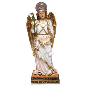 Resin & PVC statues: Archangel Gabriel Figure 40 cm, in colored resin