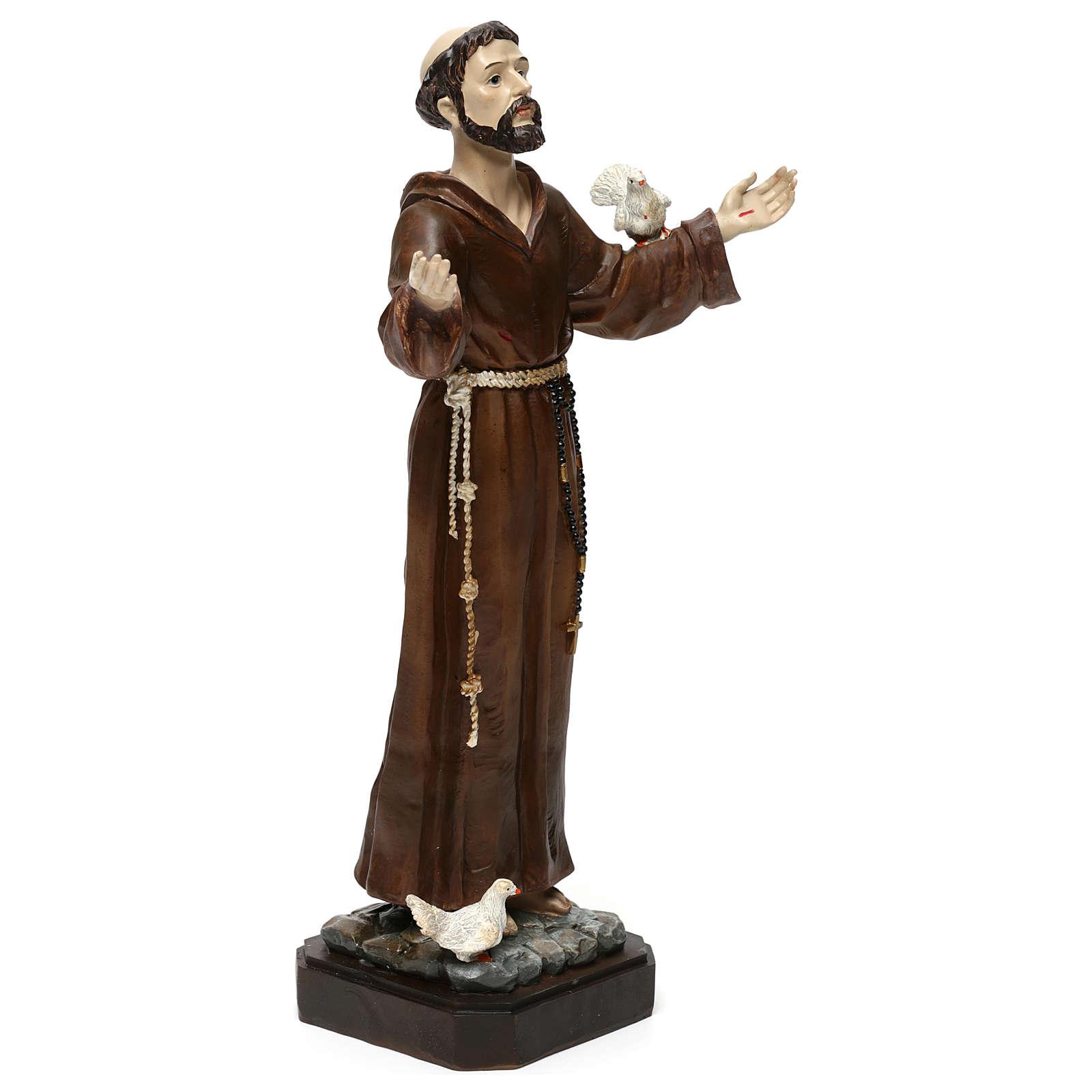 Saint François h 30 cm résine colorée 4