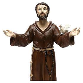 Saint François h 30 cm résine colorée s2