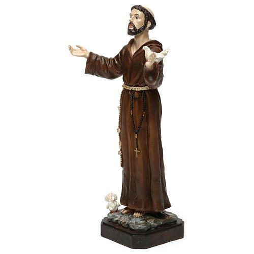 Saint François h 30 cm résine colorée 3