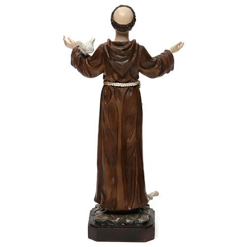 Saint François h 30 cm résine colorée 5